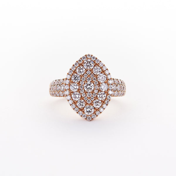 The Roxxane - 18K Rose Gold and Diamond Ring