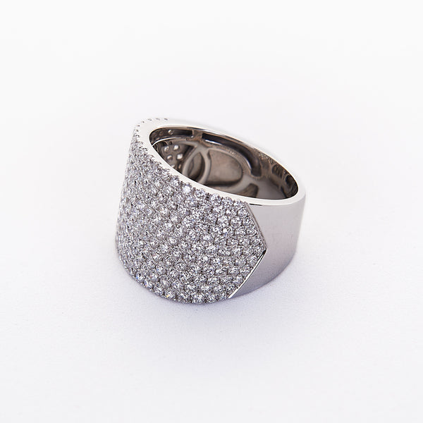 The Emily - 18K White Gold and Diamond Ring