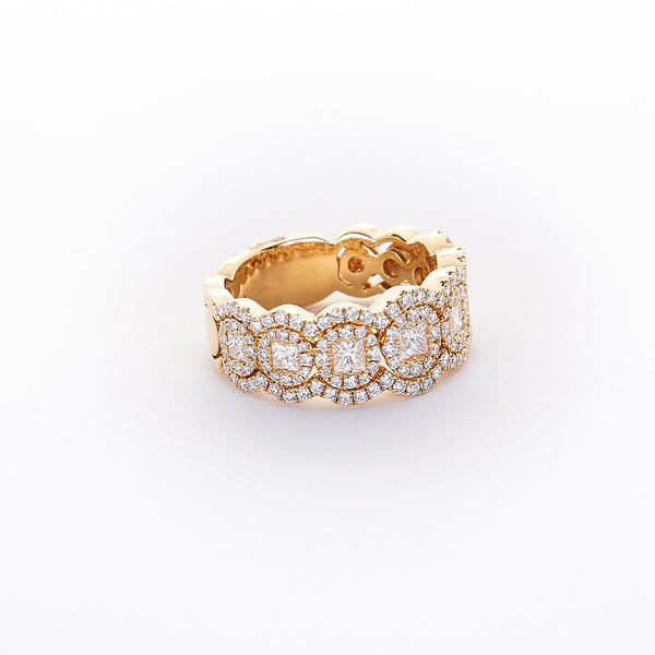 The Halle - 18K Yellow Gold and Diamond Ring