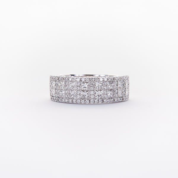 The Tiffany- 18K White Gold and Diamond Ring.