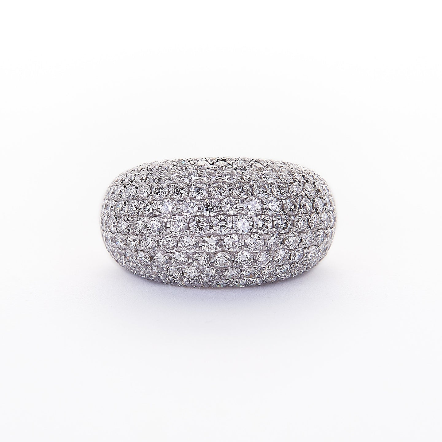 The Susan - 18K White Gold and Pave Dome Diamond Ring