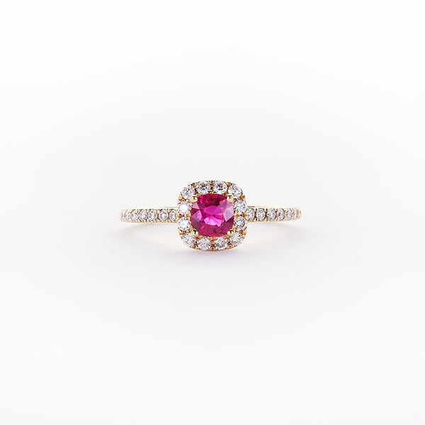 The Gigi - 14K Yellow Gold and Ruby Ring