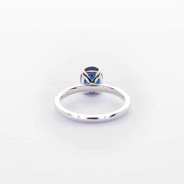 The Courtney - 18K White Gold and Blue Sapphire Ring
