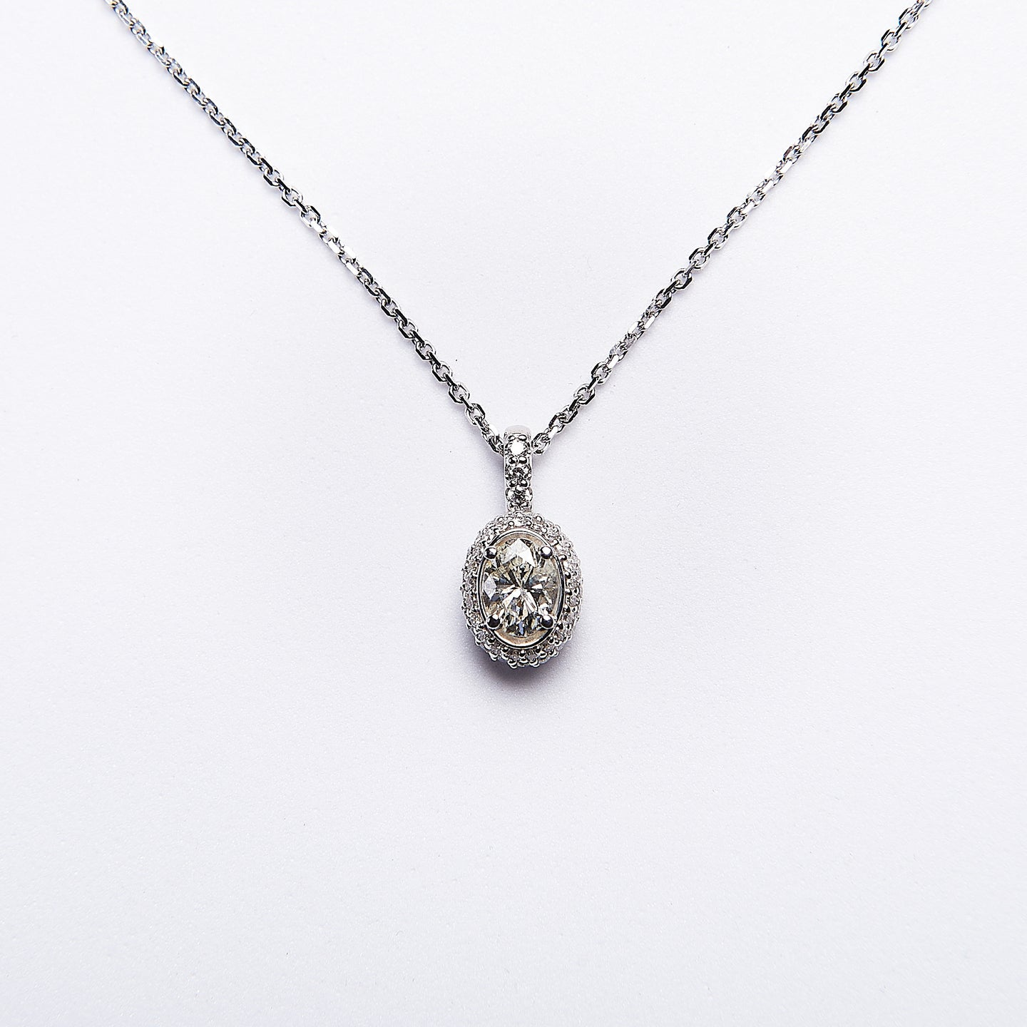 The Juno - 14K White Gold Diamond Pendant