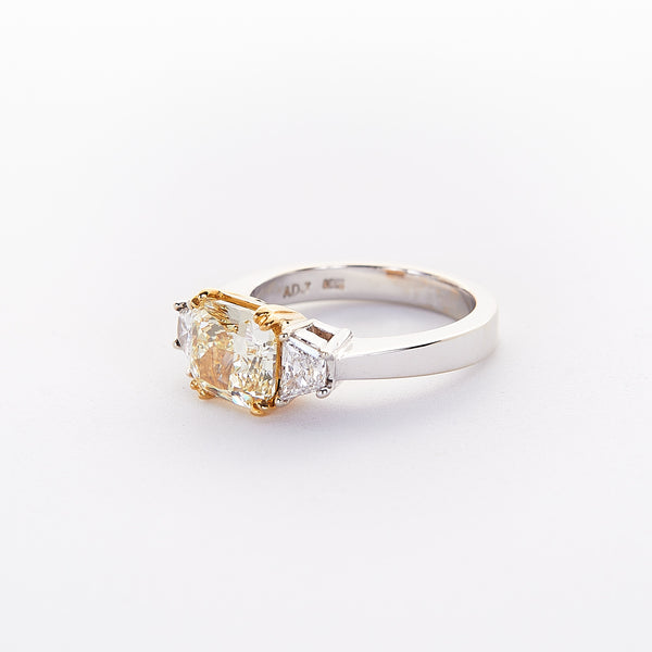 The Mellisa - 18K White Gold and 22K Yellow Gold With Yellow Daimond Ring