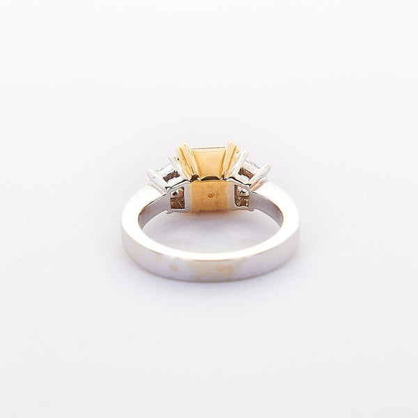 The Vanessa - 18K White Gold and 22K Yellow Gold With Yellow Daimond Ring