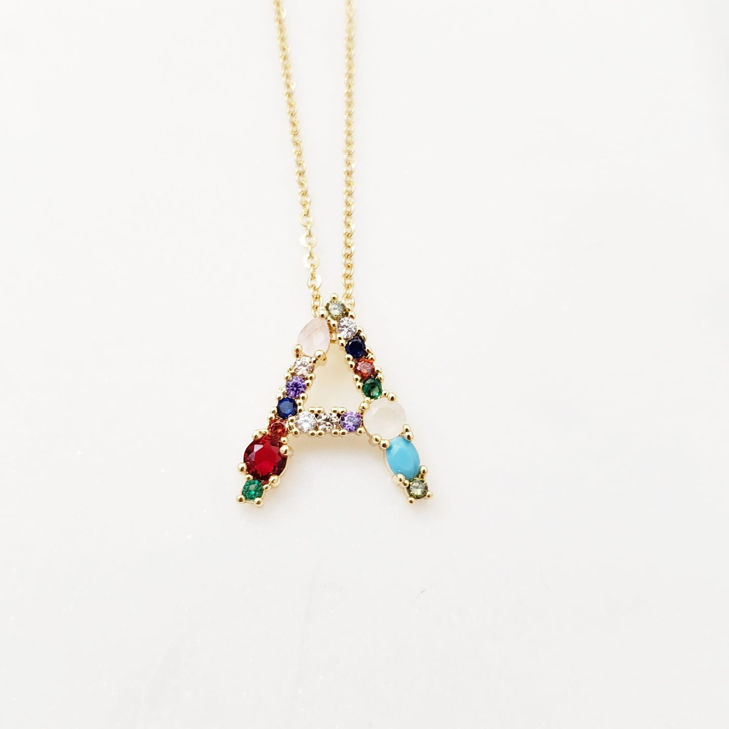 Crystal Initial Letter Necklace