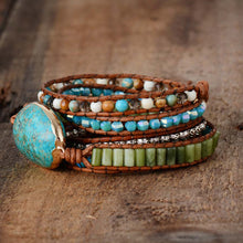 Load image into Gallery viewer, Moon Stone Wrap Bracelet