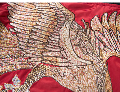 Impressive Embroidered Golden Phoenix Sukajan (3 differents colors)