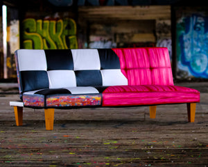 Hand painted futon