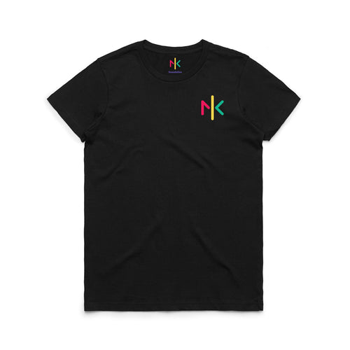 WOMENS NK FOUNDATION T'SHIRT - BLACK