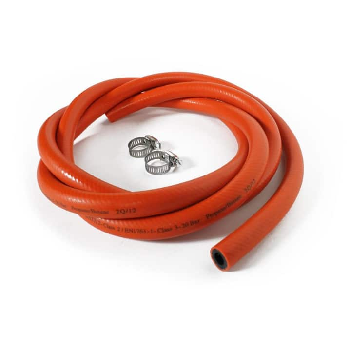 1.5m Orange hose + Clamps