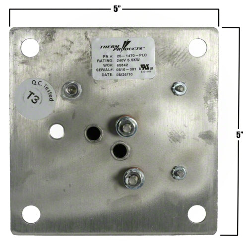 HydroQuip Square Flange Heater Element 12-0010A-K