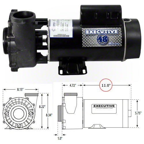 "Waterway Executive 2 HP 2 Speed 2 1/2"" Intake 48 Frame 230 Volt Pump 3420820-13"