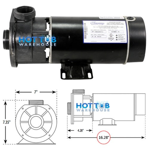 Waterway Center Discharge 2 H.P. 48 Frame 2 Speed 230V Pump 3420820-15