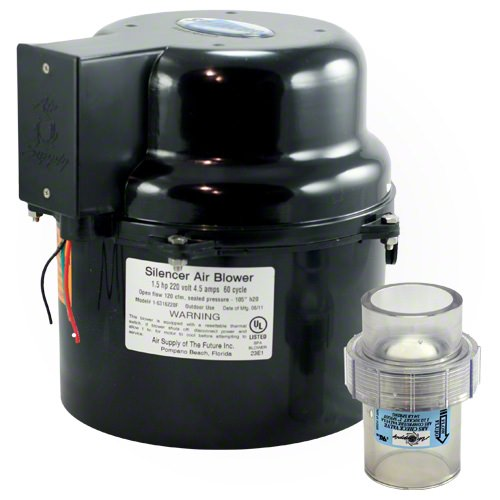 Silencer Air Blower 2 Horsepower - 240 Volts -  With Toggle Switch