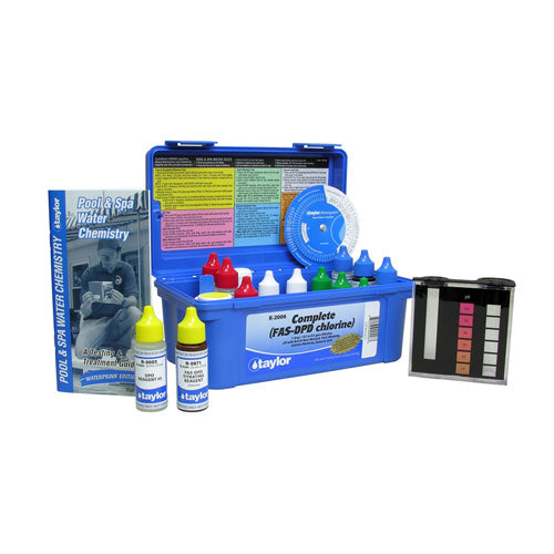 Taylor Complete Chlorine FAS-DPD Test Kit - High Range K-2006 - Hot Tub Warehouse