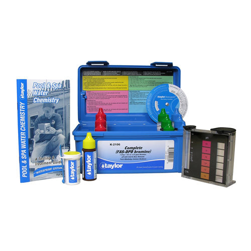 Taylor Complete Bromine FAS-DPD Test Kit - High Range K-2106 - Hot Tub Warehouse
