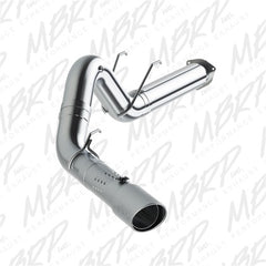MBRP 5in Filter Back Single Tip Aluminized Exhaust System 17-18 Powerstroke