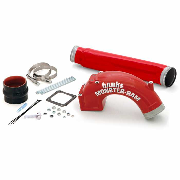 "Banks Monster-Ram Intake System 3.5"" (red) includes Boost Tube 98-02 cummins"