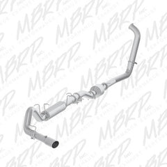 "MBRP 4"" Turbo Back, Single Side (Stock Cat) Exit, AL 03-07 Powerstroke"