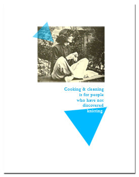 Greeting card: Cooking and Cleaning