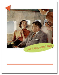 Greeting card for knitters: I do it continental style