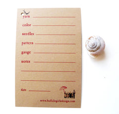 knitting swatch gauge card knitters funny