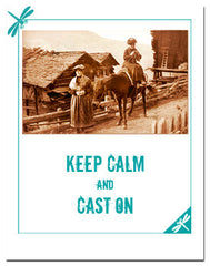 Greeting card for knitters: Keep calm and cast on!