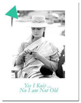 Greeting card for knitters: Yes I knit ......