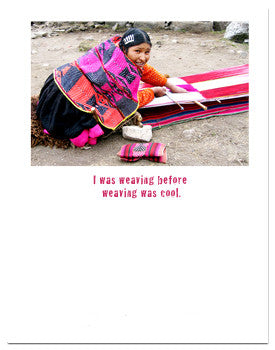 Weaving Greeting Card Peru