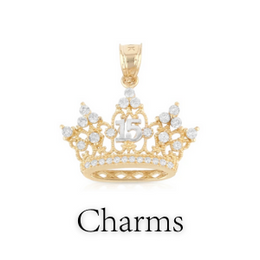 quinceanera charms pendants for her/girl
