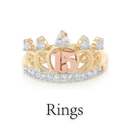 quinceanera rings for her/girl