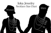 Ioka - 14K Yellow Gold Infinity Love Pendant Charm Double Chain Necklace - 17+1""