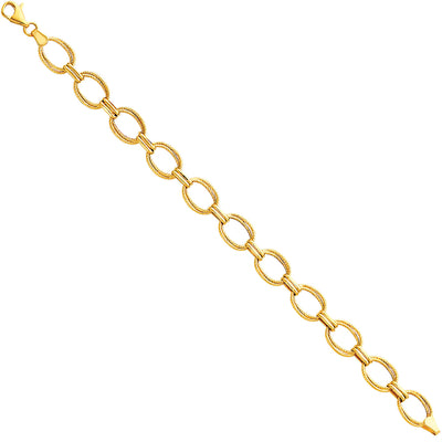 14K Gold Light Fancy Hollow Bracelet - 7.5'