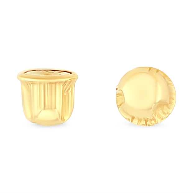 Replacement Earrings Screw Backs Pair in 14K Gold