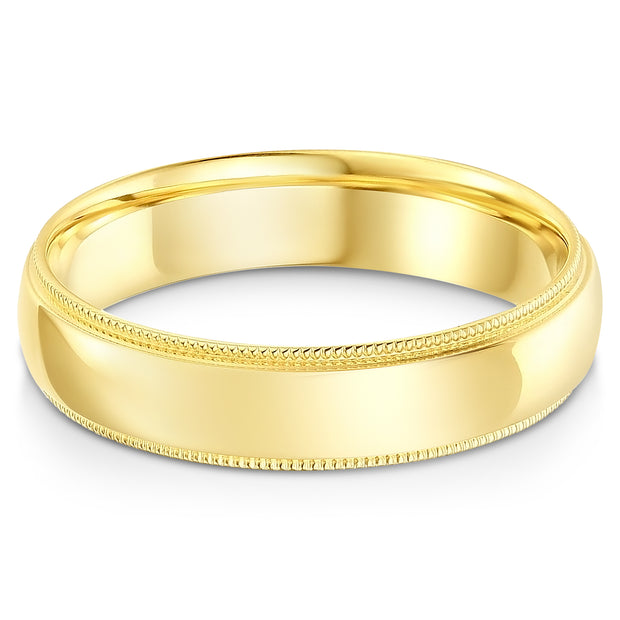 14K Solid Gold Band Ring