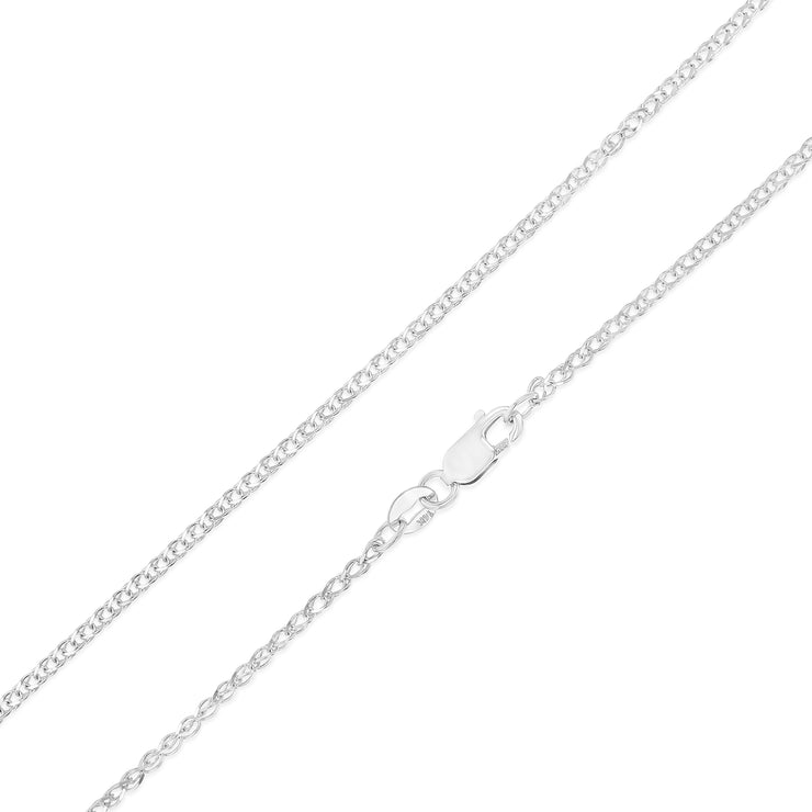 14K Gold 1.7mm Flat Open Wheat Chain