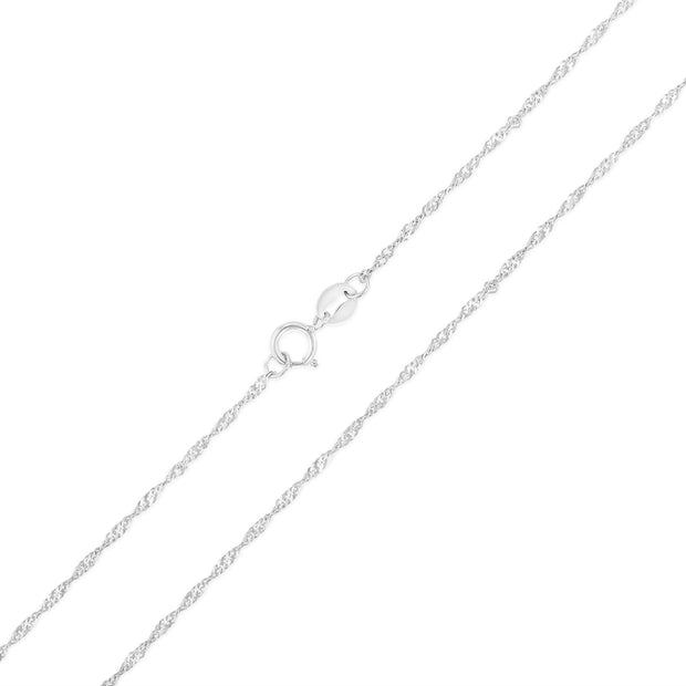 14K Gold 1.2mm Singapore Chain