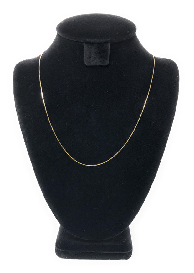 14K Gold 0.8mm Box Chain