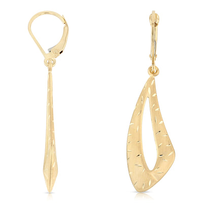 14K Gold Fancy Dangle Hanging Earrings
