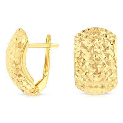 14K Gold Half Huggies Clip on Earrings
