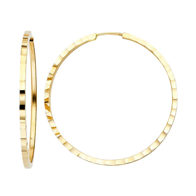 14K Gold 1.5mm Square Tube Hoops