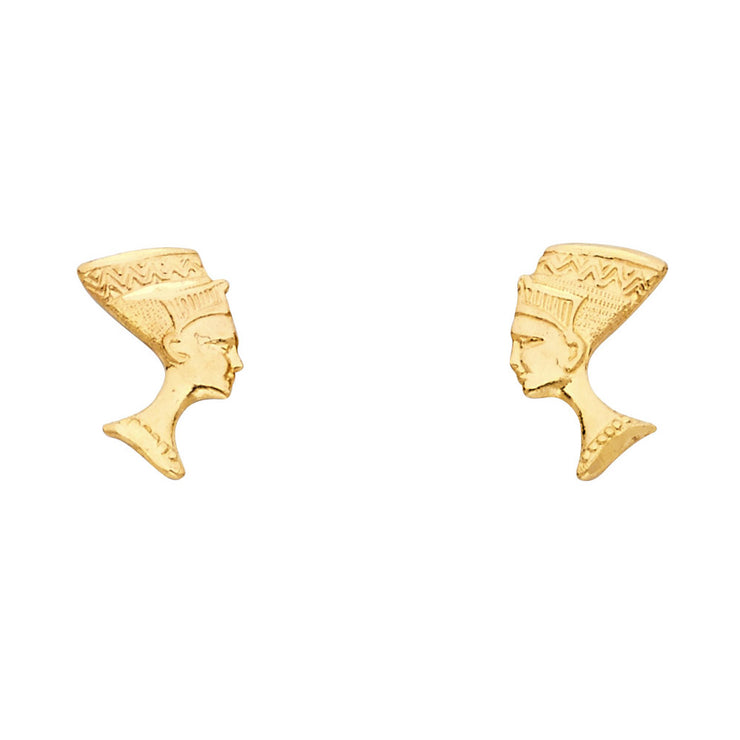 14K Gold Pharaoh Post Earrings