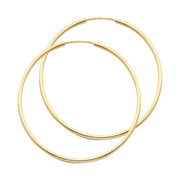 14K Gold 1.5mm Hoops