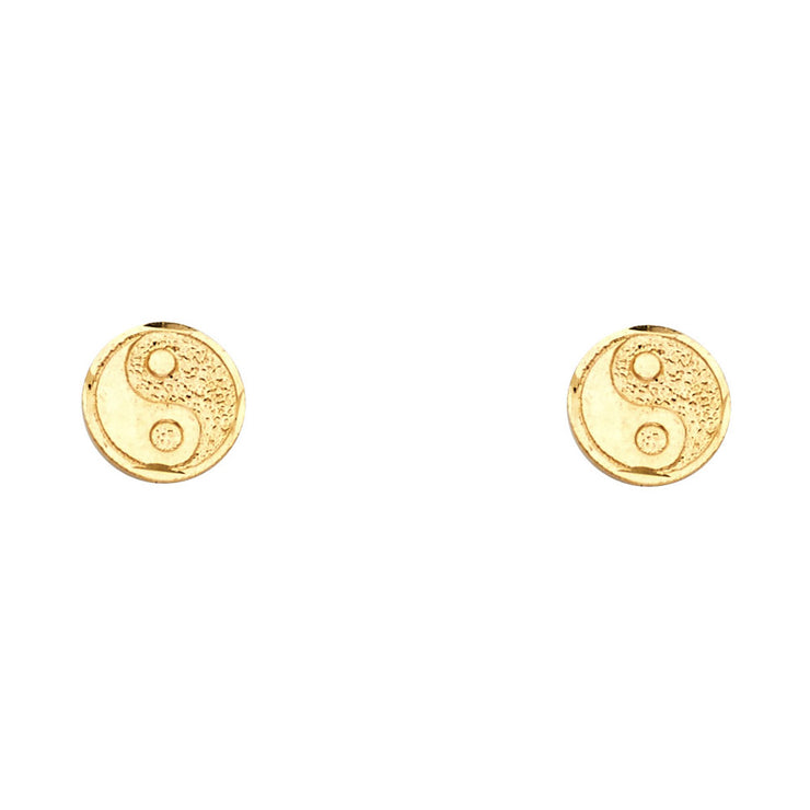 14K Gold Eastern Lucky Studs