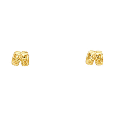 14K Gold Shoes Studs