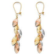 14K Gold Hanging Earrings