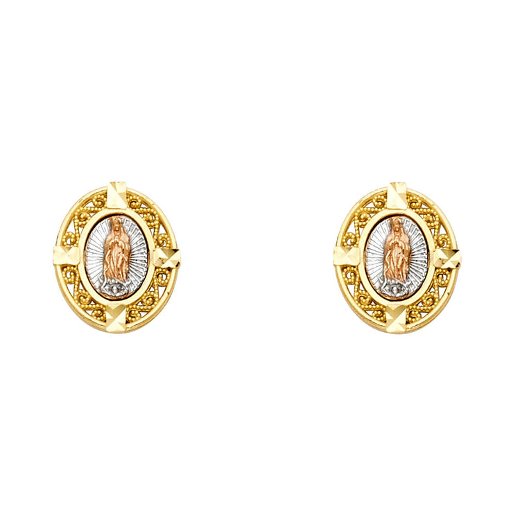 14K Gold Guadalupe Post Earrings