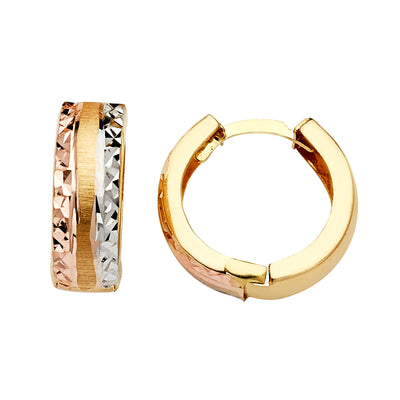 14K Gold Huggie Hoops